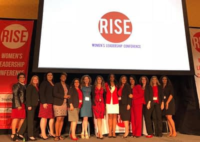 Women of RISE on stage